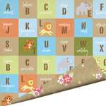 Imaginisce - Wild Things Collection - 12 x 12 Double Sided Gloss Embossed Paper - Zoophabet, CLEARANCE