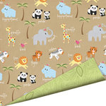Imaginisce - Wild Things Collection - 12 x 12 Double Sided Gloss Embossed Paper - Pandamonia