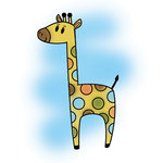 Imaginisce - Wild Things Collection - Snag 'em Acrylic Stamps - Giraffe