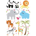Imaginisce - Wild Things Collection - Rub Ons - Party Animal