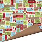 Imaginisce - Polar Expressions Christmas Collection - 12 x 12 Double Sided Paper - Jolly Jingle