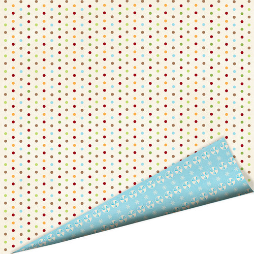 Imaginisce - Polar Expressions Christmas Collection - 12 x 12 Double Sided Paper - Sugar Sprinkles