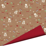 Imaginisce - Polar Expressions Christmas Collection - 12 x 12 Double Sided Paper - So Beary Merry