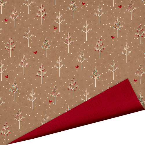 Imaginisce - Polar Expressions Christmas Collection - 12 x 12 Double Sided Paper - Frosted Forest