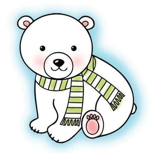 Imaginisce - Polar Expressions Christmas Collection - Snag 'em Acrylic Stamps - Polar Bear