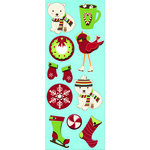 Imaginisce - Polar Expressions Christmas Collection - Sticker Stackers - 3 Dimensional Stickers - Cozy