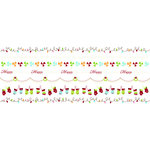 Imaginisce - Polar Expressions Christmas Collection - Rub Ons - Season's Stringings Border