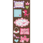 Imaginisce - Perfectly Posh Collection - Chipboard Stickers - Girly Girl
