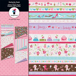 Imaginisce - Perfectly Posh Collection - 12 x 12 Glitter Paper Pack, CLEARANCE