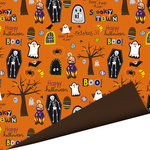 Imaginisce - Spooky Town Halloween Collection - 12 x 12 Double Sided Paper - Monster Mash , CLEARANCE