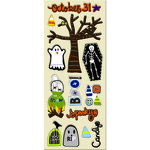 Imaginisce - Spooky Town Halloween Collection - Chipboard Stickers - Tombstone Terrors
