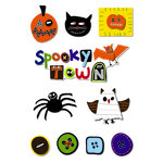 Imaginisce - Spooky Town Halloween Collection - Sticker Stackers - 3 Dimensional Stickers - Spooky , CLEARANCE