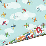 Imaginisce - Let's Roll Collection - 12 x 12 Double Sided Gloss Embossed Paper - Fly High , BRAND NEW