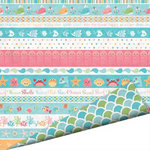 Imaginisce - Splash Dance Collection - 12 x 12 Double Sided Paper with Glossy Accents - Ocean Motion, CLEARANCE