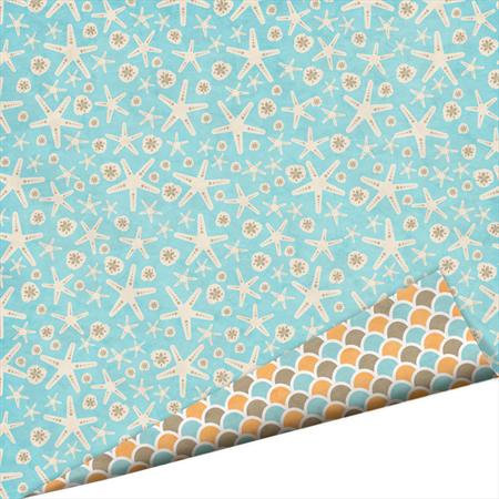 Imaginisce - Splash Dance Collection - 12 x 12 Double Sided Paper with Glossy Accents - Corals Reef, CLEARANCE