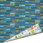Imaginisce - Live Loud Collection - 12 x 12 Double Sided Paper with Glossy Accents - Turn it Up, CLEARANCE