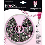 Imaginisce - I-Rock - Hot Rocks Compact - Self Adhesive Gems - Pink Black and Clear Assortment