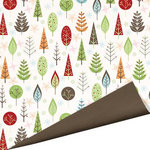 Imaginisce - Cottage Christmas Collection - 12 x 12 Double Sided Paper with Glossy Accents - Winter Woods