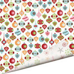 Imaginisce - Cottage Christmas Collection - 12 x 12 Double Sided Paper with Glossy Accents - All that Glitters