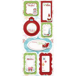 Imaginisce - Cottage Christmas Collection - Sticker Stacker - 3 Dimensional Stickers - Holly Jolly