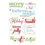 Imaginisce - Cottage Christmas Collection - Rub Ons - Season's Greetings Words