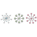 Imaginisce - Cottage Christmas Collection - Metal Stickers - Snowflake Glitz, CLEARANCE