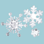 Imaginisce - Cottage Christmas Collection - Snowflake Crystals