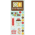 Imaginisce - Birthday Bash Collection - Chipboard Stickers with Glossy Accents - It's My Birthday, CLEARANCE