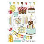 Imaginisce - Birthday Bash Collection - Rub Ons - All For You Icons