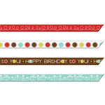 Imaginisce - Birthday Bash Collection - Ribbons - Birthday Streamers, CLEARANCE