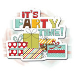 Imaginisce - Birthday Bash Collection - 3 Dimensional Springing Stickers with Glossy Accents - It's Party Time, CLEARANCE