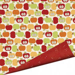Imaginisce - Apple Cider Collection - 12 x 12 Double Sided Paper with Glossy Accents - Apple Crisp, CLEARANCE