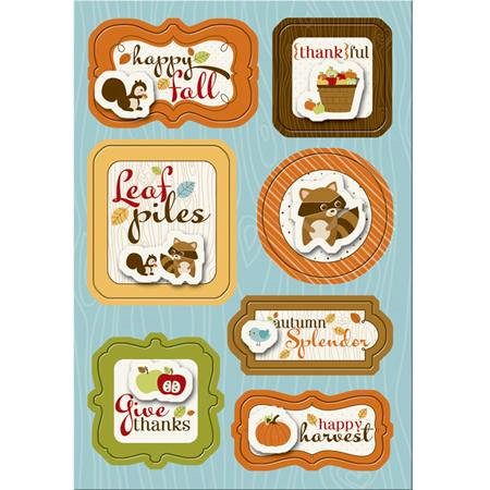 Imaginisce - Apple Cider Collection - Sticker Stacker - 3 Dimensional Stickers - Happy Harvest, CLEARANCE