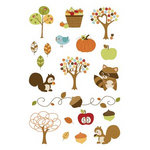 Imaginisce - Apple Cider Collection - Rub Ons - Hurry Scurry Icons, CLEARANCE