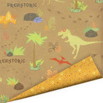 Imaginisce - Dinosaur Roar Collection - 12 x 12 Double Sided Paper with Varnish Accents - Stomping Ground, CLEARANCE