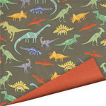 Imaginisce - Dinosaur Roar Collection - 12 x 12 Double Sided Paper with Varnish Accents - I Dig Dinos, CLEARANCE