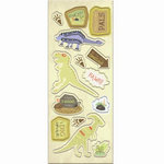 Imaginisce - Dinosaur Roar Collection - Chipboard Stickers with Varnish Accents - Prehistoric Pals, CLEARANCE