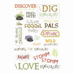 Imaginisce - Dinosaur Roar Collection - Rub Ons - Stomp! Stomp! Words, CLEARANCE