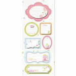 Imaginisce - Enchanted Collection - Sticker Stacker - 3 Dimensional Stickers - True Love Tag