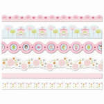 Imaginisce - Enchanted Collection - Adhesive Border Strips with Varnish Accents - Belle of the Ball