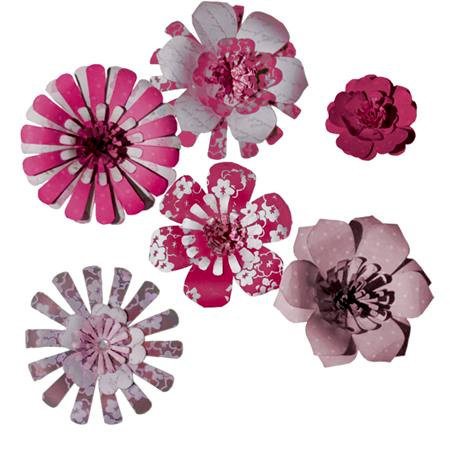 Imaginisce - Gotta Buy Basics Collection - Pop-up Posies - Pinks