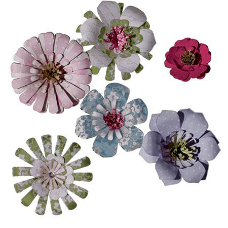 Imaginisce - Gotta Buy Basics Collection - Pop-up Posies - Brights