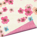 Imaginisce - Garden Party Collection - 12 x 12 Double Sided Paper with Glossy Accents - Wild Flowers