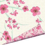 Imaginisce - Garden Party Collection - 12 x 12 Double Sided Paper with Glossy Accents - Brambleberry Blossoms