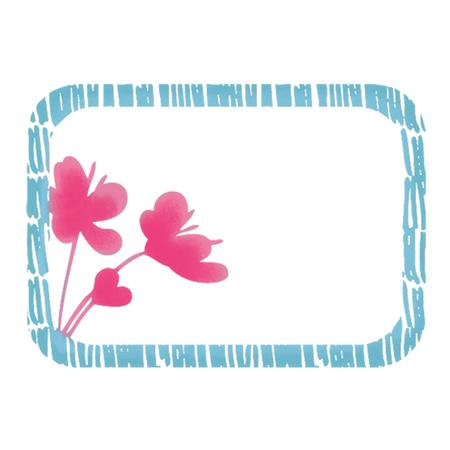 Imaginisce - Garden Party Collection - Snag 'em Acrylic Stamps - Flower Frame