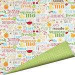Imaginisce - Berrylicious Collection - 12 x 12 Double Sided Paper with Glossy Accents - Just Peachy