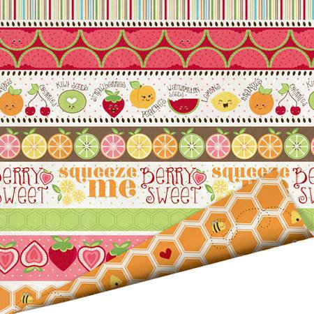 Imaginisce - Berrylicious Collection - 12 x 12 Double Sided Paper with Glossy Accents - Sweet Summer Garden