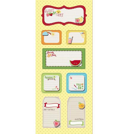 Imaginisce - Berrylicious Collection - Sticker Stackers - 3 Dimensional Stickers with Glossy Accents - Summer Fun