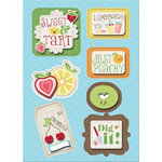 Imaginisce - Berrylicious Collection - Sticker Stackers - 3 Dimensional Stickers with Glossy Accents - Sweet and Tart