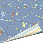 Imaginisce - Little Cutie Collection - 12 x 12 Double Sided Paper with Glossy Accents - Little Man